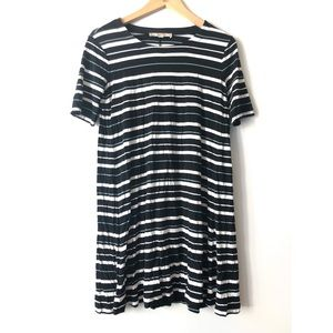 Ann Taylor LOFT Striped T-Shirt Mini Dress